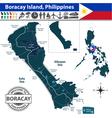 Map of Boracay island vector image vector image