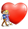 A loving couple vector image