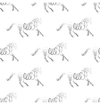 horse seamless pattern vector image