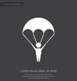 parachutist premium icon vector image