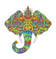 colorful hand drawn zentagle of feather Coloring vector image