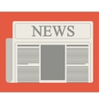 Colorful newspaper article design vector image