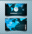 modern business card design template vector image