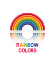 rainbow symbol six colors vector image vector image