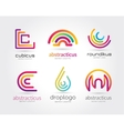 Abstract logo set template for branding and vector image