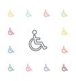 cripple flat icons set vector image