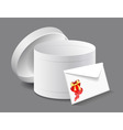 gift box with a letter vector image vector image