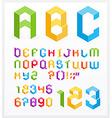3d alphabet vector image