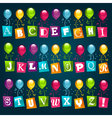 party alphabet with balloons vector image