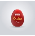 Happy easter realistic red egg isolated vector image