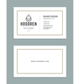 Business Card Design and Retro Style Logo Template vector image