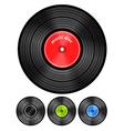 Vinyl audio discs set vector image vector image