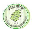 arbor day icon oak leaf vector image