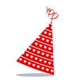 birthday hat heart pattern vector image