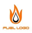 Burning fuel drop vector image
