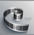 film strip in 3d style vector image