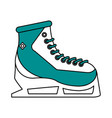 Ice skates design vector image