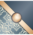 Retro background with ornament vector image