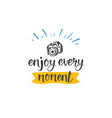 travel quote hand drawn icon lettering vacation vector image
