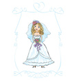 wedding picture vector image