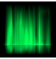Green aurora borealis background EPS 8 vector image