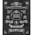 Retro Banner and ribbon blackboard design set vector image
