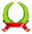 green wreaths  ribbon vector image vector image