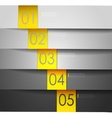 Abstract number Line vector image