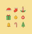 Christmas Icons Flatten vector image vector image