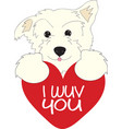 I Wuv You Dog vector image