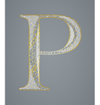 Abstract golden letter P vector image