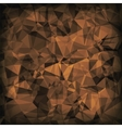 Brown Polygonal Background vector image