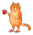 cat cup vector image