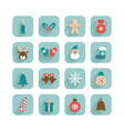 christmas set different icons vector image