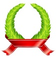 green wreaths ribbon vector image