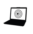 laptop with target black vector image