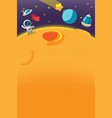 spaceman galaxy cartoon planet background vector image