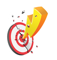 Yellow Spark Destroy Red Target vector image