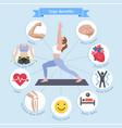 yoga benefits diagram vector image