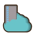 computer server data isolated icon vector image