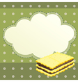 A stationery with a biscuit vector image