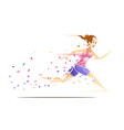 woman runner metafan concept vector image
