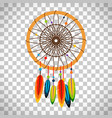 dream catcher with feathers and beads vector image