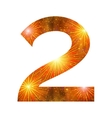 Number of orange firework two vector image