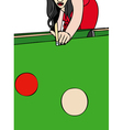 Woman playing billiards vector image