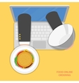 Online food ordering flat concept vector image vector image