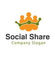Social Share Design vector image