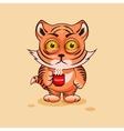 Tiger cub nervous vector image