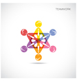 Business Teamwork cooperation icon vector image