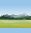 rural landscape mountains countryside view with vector image
